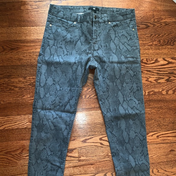 "H&M Denim - Snakeskin ""Jean"" pants"